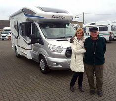 David & Eileen are pictured taking delivery of their brand new Chausson 510 Welcome motorhome, from Shane.  Living just outside Canterbury and not having had either Motorhomes or Caravans before, David and Eileen were extra keen to ensure that they purchased their first motorhome from a local `tried & trusted` dealership. Styrofoam Insulation, Canterbury, Caravans, Fiat, Motorhome, Welcome, Recreational Vehicles, The Twenties, It Is Finished
