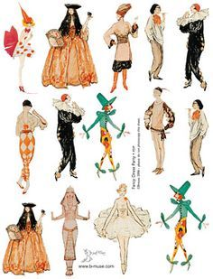 1920s mardi gras - Google Search Vintage Halloween Cards, Retro Halloween, Halloween Party, 1920s Halloween Costume, Mardi Gras Photos, Mardi Gras Costumes, Vintage Circus, Period Outfit, Artist Trading Cards