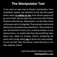 Manipulator test