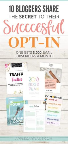 In desperate need of an opt-in freebie? Need some opt-in freebie ideas? Know you need an opt-in to grow your email list? Check out these 10 bloggers killing it with their opt-in freebie! A professional looking an well designed opt-in will lead to email subscribers begging to be on your list.