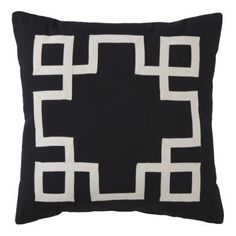 Grosgrain Appliqué Toss Pillow @ Target.com