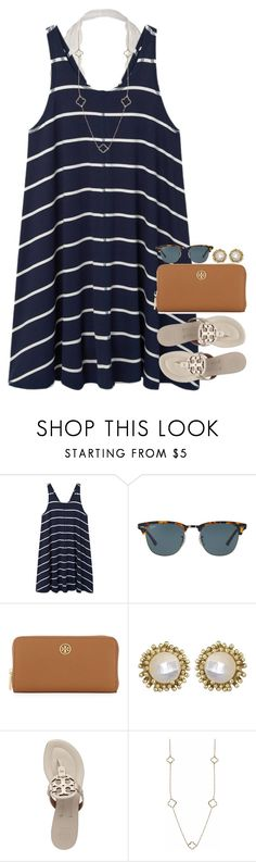 """""""Go follow my first place contest winner @hmcdaniel01 spam her with likes!!!"""" by thedancersophie ❤ liked on Polyvore featuring MANGO, Ray-Ban, Tory Burch, Kendra Scott and Humble Chic"""