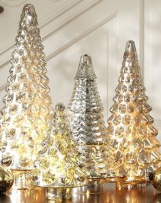 elegant mercury glass trees http://rstyle.me/n/tqi9nbh9c7