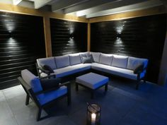 Lounge set life timber lava muisgrijs all weather kussens buitenhof