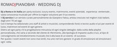 Wedding Dj Romadjpianobar musica matrimonio Roma Sorrento Costiera Amalfitana Toscana Firenze Siena http://www.romadjpianobar.com/weddingdj.aspx  http://www.romadjpianobar.com/wedding-dj-italy.aspx •	wedding dj ideas •	wedding dj setup •	wedding dj playlist •	how to pick a wedding dj •	wedding dj booth •	wedding dj lighting •	wedding dj questions •	wedding dj table •	diy wedding dj •	wedding dj list •	wedding dj games •	wedding dj cost •	wedding dj events •	wedding dj price •	wedding dj…