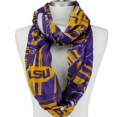 LSU Tigers Infinity Scarf J and D Jewelry and More http://www.amazon.com/dp/B014095TF2/ref=cm_sw_r_pi_dp_-bJ7vb1KQW1R6