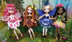Lot-of-Four-Fairy-Dresses-Clothing-for-Ever-After-High-Dolls
