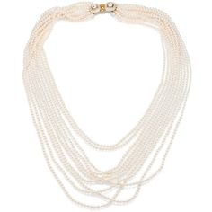 Oscar de la Renta Multi Strand Faux-Pearl Necklace (40.330 ARS) ❤ liked on Polyvore featuring jewelry, necklaces, collier, oscar de la renta, multiple strand necklace, clasp necklace, multi-chain necklace, faux pearl necklace and white necklaces