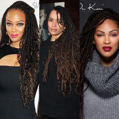 53 Box Braids Hairstyles That Rock - Hairstyles Trends Faux Locs Hairstyles, Rock Hairstyles, Goddess Hairstyles, African Braids Hairstyles, Loose Hairstyles, Black Girls Hairstyles, Celebrity Hairstyles, Faux Locs Styles, Short Hair Styles
