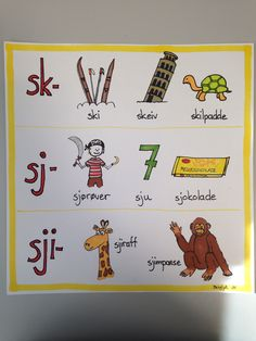 Skj-lyden Teaching Reading, Teaching Kids, Barn Crafts, Swedish Language, Montessori Classroom, School Posters, Too Cool For School, Word Families, Communication Skills