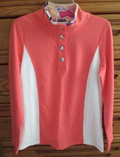 For sale in our Ebay store!  Click on the photo...  NEW NWT Christopher Banks Medium Cotton Spandex Peach White Pullover Top Shirt  #ChristopherBanks #PulloverTop #fashion #cotton #spandex #peach #top