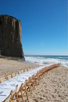 Have a seat at this beach wedding.