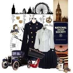 """Navy blue royality"" by bermuda-tricorne on Polyvore"