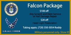 Falcon Package #AutoSpaExpress #Aurora #cars #carwash #military #specials