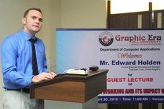 The department of computer applications organized a lecture on 'Social Networking and its impact on Youth'. The lecture was delivered by Mr. Edward Holden, former Business Development Manager, GATE Trust, UK.