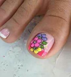 New nails design rosa toe Ideas New Nail Art Design, Best Nail Art Designs, Nails Design, Finger Nail Art, Toe Nail Art, Acrylic Nails, Cute Pedicure Designs, Flame Nail Art, Cute Pedicures