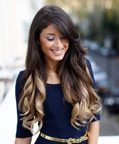 Ombre Clip In Hair Extensions - Dark Brown to Dirty Blonde