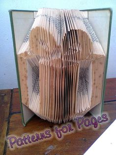 Book folding pattern for a GIFT-PRESENT by PatternsForPages on Etsy