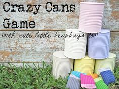 Crazy cans game, water balloon spoon race and other great ideas