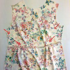 Näin teet vuorellisen mekon, ohje: http://www.kodinkuvalehti.fi/artikkeli/suuri_kasityo/ompelu/nain_ompelet_vuorillisen_kukkamekon_1