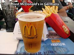 I have ordered it myself in Ramstein, this is an actual thing. It's bit burger beer too.
