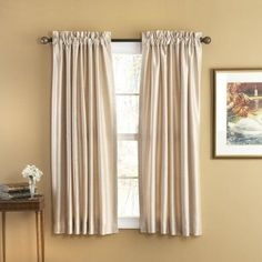 Elegant Home Fashions Evelyn Rod Pocket Window Panels - WC4512