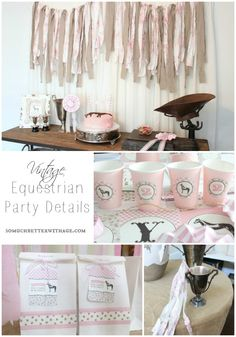 Vintage Equestrian Party Details {Cups, Favors, Wands}