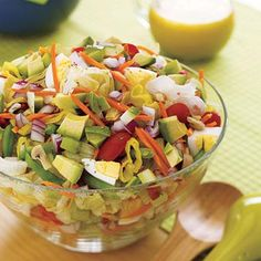 Healthy dinner ideas: Chopped Salad with Tangy Parmesan Dressing recipe