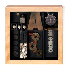 Janet Jones - box assemblage - This work by Janet Jones is in the collection of the International Museum of Collage, Assemblage and Construction - collagemuseum.com
