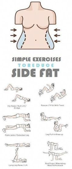 How to Get Rid of Side Fat and Love Handles Fast At Home. Try these Exercises for Side Fat Today and Lose 10 Pounds in 2 weeks. How to Get Rid of Side Fat and Love Handles Fast At Home. Try these Exercises for Side Fat Today and Lose 10 Pounds in 2 weeks. Fitness Workouts, Sport Fitness, Easy Workouts, At Home Workouts, Side Workouts, Exercises For Side Fat, Belly Exercises, Workout Routines, Workout Ideas