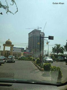 So fantastic photography of Bahria Icon tower Karachi city Sindh Pakistan