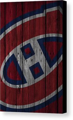 Montreal Canadiens Wood Fence Canvas Print / Canvas Art by Joe Hamilton