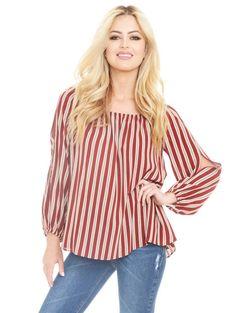 Romey Top - Red Stripe