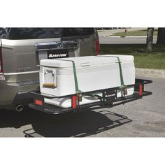 Cargo Trailer Camper Conversion, Cargo Trailers, Best Bike Rack, 5th Wheel Camper, Cargo Rack, Receiver Hitch, Suzuki Jimny, Remodeled Campers, Tubular Steel