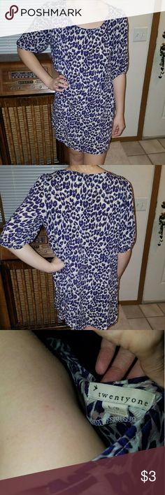 Leopard dress Loose flowy purple, and taupe leopard dress. Twenty one Dresses Midi