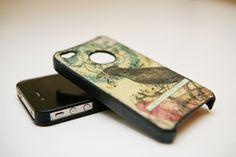 Handmade collage iPhone case.