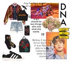 """""""JIMIN: DNA"""" by clarissa-cheam on Polyvore featuring Gucci and adidas Originals"""