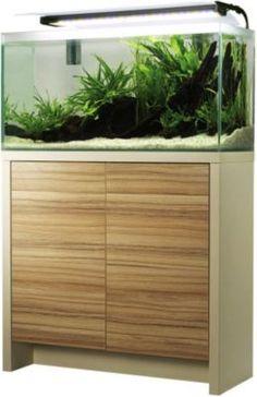 Schöner Aquarienschrank in modernem Coco-Bolo/ Muscheldesign. Die Höhe beträgt komfortable 85 cm. Die Türen sind mit einer Oberflächenstruktur ausgestattet. https://www.plus.de/p-1610051000?RefID=SOC_pn