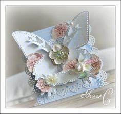 delicate butterfly handmade card