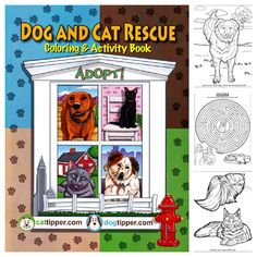 The Dog & Cat Rescue Coloring & Activity Book, http://www.dogtipper.com/barkonomics/our-coloring-book, $4.99