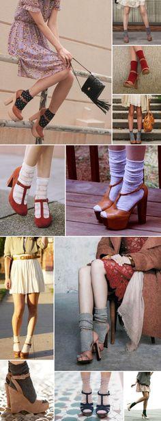 Rebellious yet Romantic - Fashion - Might want to wear - socks in pumps - sokken in pumps