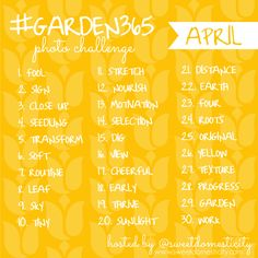Join in the #garden365 Photo Challenge for April