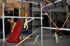 Send your super heroes down a zipline!