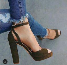 Women New Summer Fashion Casual Peep Toe Sandals Women Fashion Shoes Sexy High Heel Sandals Elegant Thick Heel Sandals Fancy Shoes, Crazy Shoes, Cute Shoes, High Heel Boots, Heeled Boots, Shoe Boots, Shoes Heels, Stilettos, Sexy High Heels
