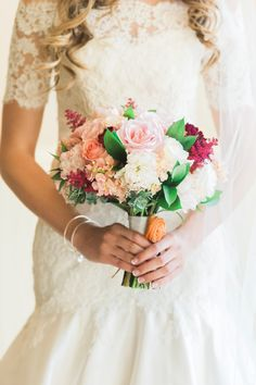 Blush and Red Bouquet   Sara Lynn Photographic