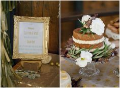 Pretty naked cake with florals by Brier Rose Design Glitter and Spice Workshop