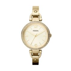 FOSSIL® Watch Styles Gold-Tone Watches:Watch Styles Georgia Glitz Stainless Steel Watch – Gold-Tone ES3227