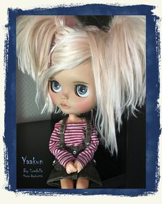Reserved For SHE...YAAKUN Ooak Custom Blythe Artist Doll by ByAlsw Sunshine Holidays, Face Tone, Two Blondes, Philtrum, Almost Perfect, Pink Tone, Sky And Clouds, Flower Making, Blythe Dolls