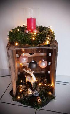 Rustic Christmas, Simple Christmas, Christmas Holidays, Christmas Candle Decorations, Christmas Crafts, Christmas Ornaments, Christmas Inspiration, Winter, Ideas For Christmas