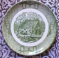 Scio China's Currier & Ives vintage china pattern - Southern Vintage Table